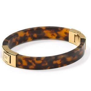 Michael Kors Tortoiseshell Hinged Bangle Bracelet